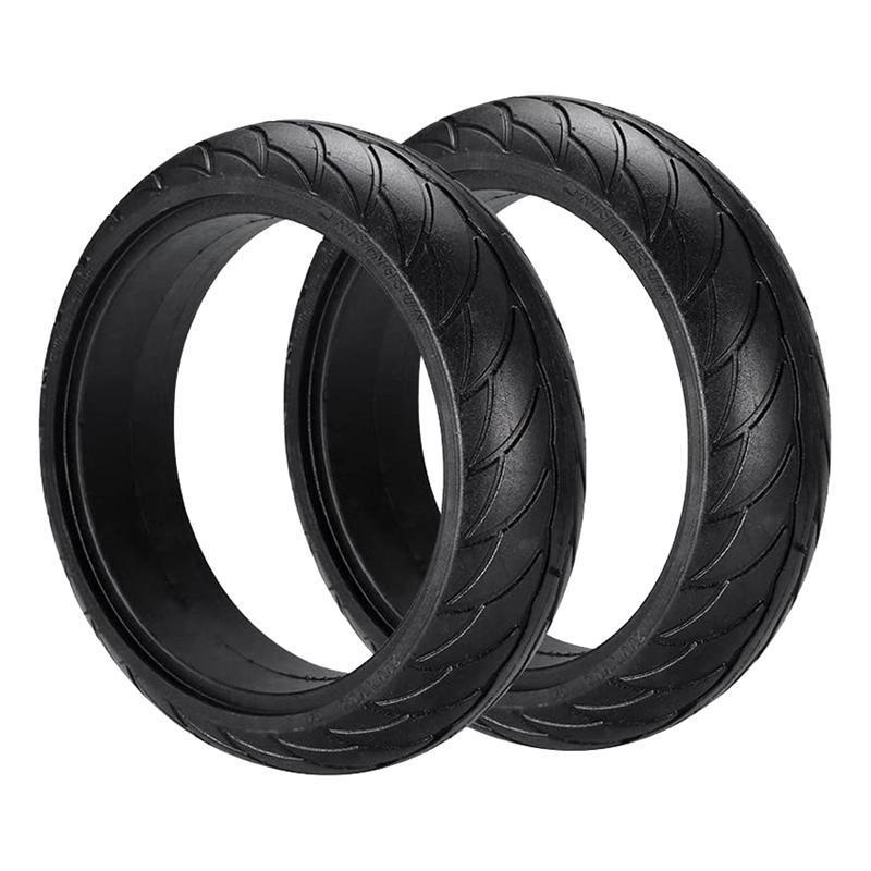 2pcs 전기 스쿠터 8 인치 휠 타이어 Ninebot ES1 / 2 / 4 수건에 대한 비 슬립 솔리드 타이어 액세서리