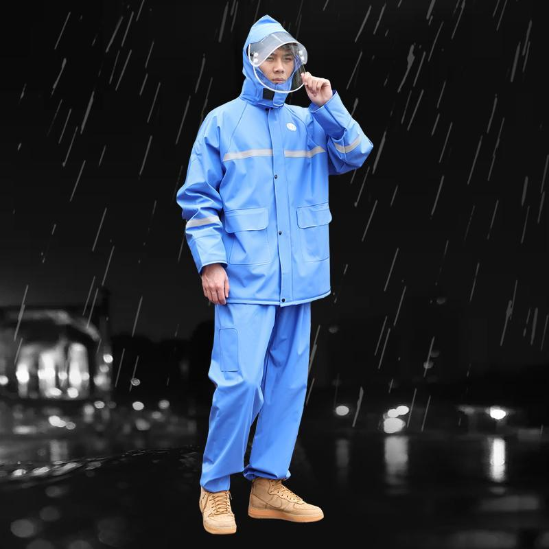 Raincoats Hiking Adult Waterproof Pants Raincoat Jacket Bike Fashion Plastic Motorcycle Rain Coat Hoodie Jas HujanRain Gear BW50YY