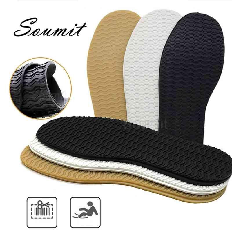 Gummi Vollsohlen für Schuhe Outsohlen Einlegesohlen Anti Slip Ground Grip Sohle Protector Sneaker Reparaturarbeiter Schuh Selbstklebende Pads 210402