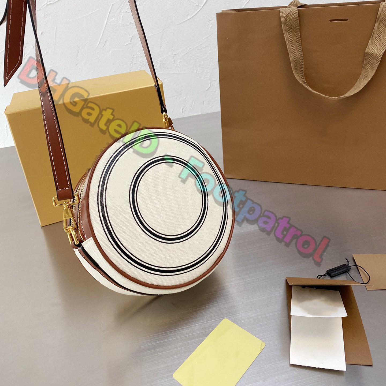 2021 الأزياء المصممين الفاخرة حقائب النساء أزياء البسيطة دائري قماش الصليب الجسم حقيبة يد دائرة حقائب السيدات مخلب محفظة حقيبة الكتف حقائب اليد عملات محفظة جيب