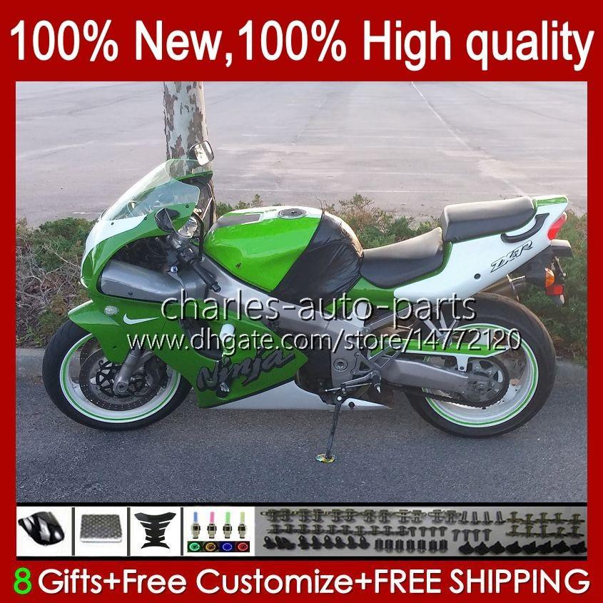 Carrosseriebody voor Kawasaki Ninja ZX-750 ZX7R ZX750 ZX 7 R Factory Green NIEUW 96 97 98 99 2000 2001 2002 2003 28HC.165 ZX 7R ZX 750 ZX-7R 1996 1997 1998 1999 00 01 02 03 OEM FACKING