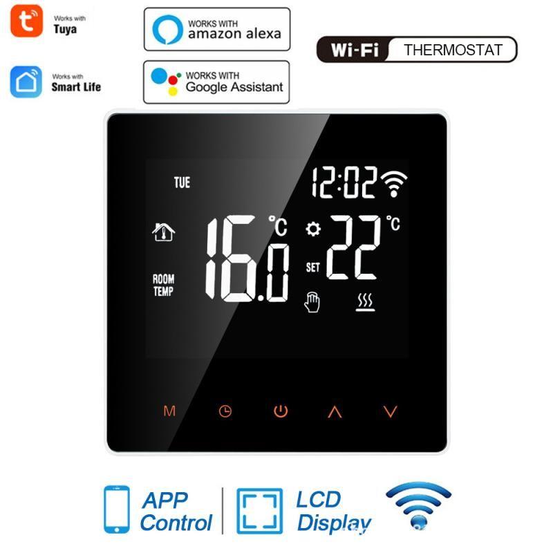 Smart Home Control Google WiFi Thermostat LCD Touch Temperaturregler Remote Voice 110-230V für