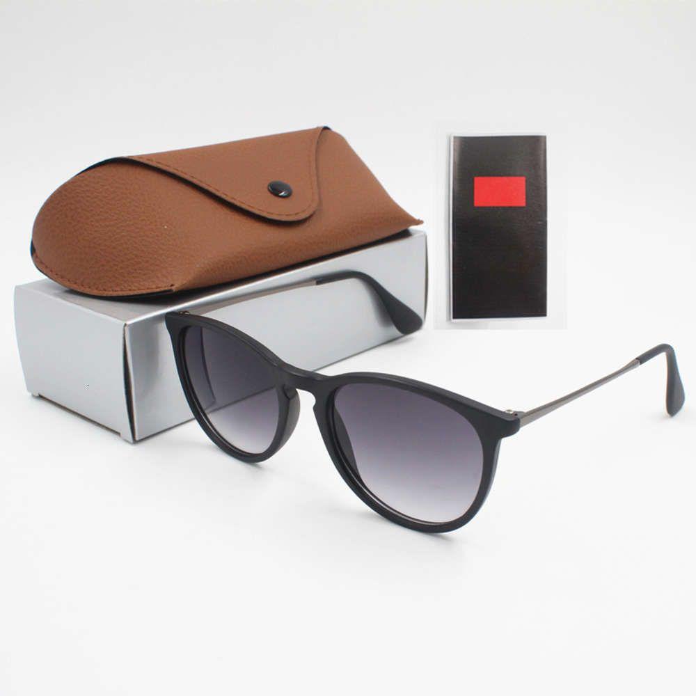 1 stücke Mode Sonnenbrille Eyewear Sonnenbrille Designer Mens Womens Braune Hüllen Schwarz Metall Rahmen Dunkel 50mm Objektive für