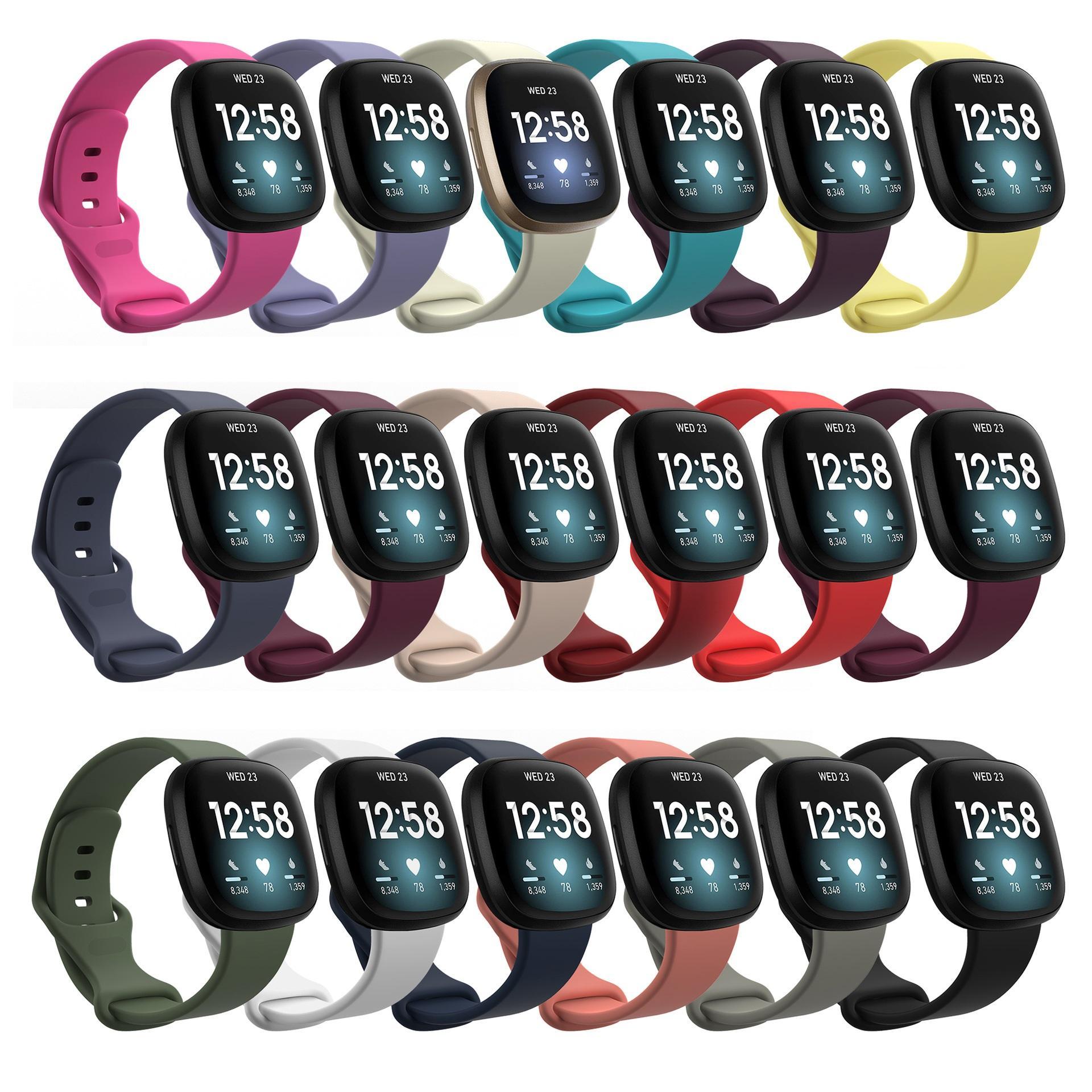 Sostituzione della banda del cinturino sportivo in silicone per Fitbit Inspire HR Carica HR 3 2 Versa Samsung Galaxy Watch Active Apple Wrist