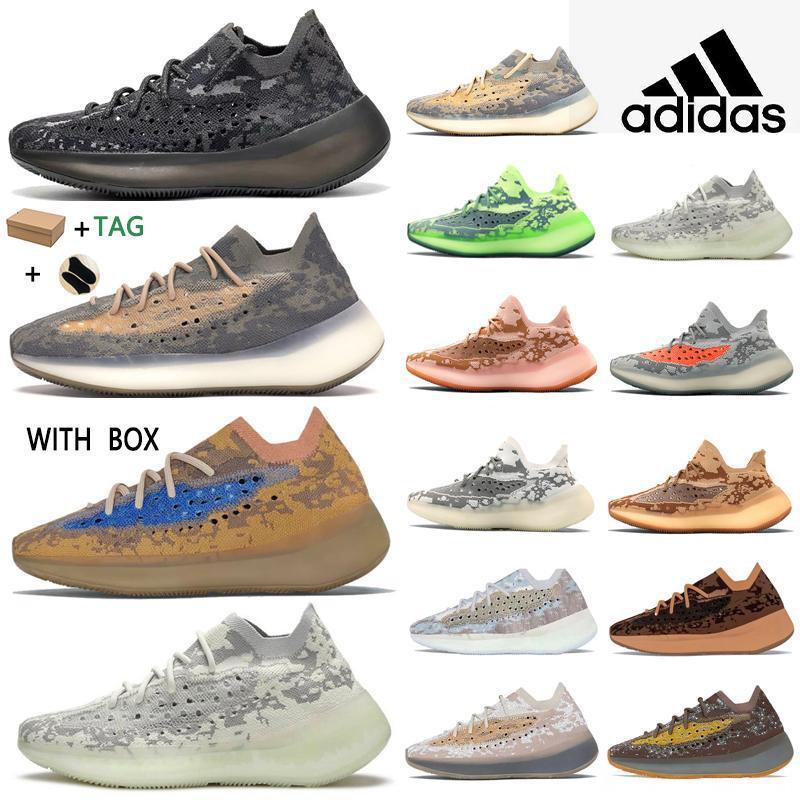 2021 Kanye West 380 V3 Top Factory Quality мужские кроссовки чужой туман Black Camo Женщины бегун Обувь для носки брелок бирки