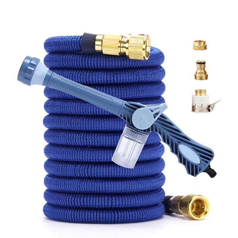 Garden Hose Expandable Watering Water Magic Flexible Car Wash High Pressure Power Washer Pipe Spray Gun Kit Cleaning Tools Equipments