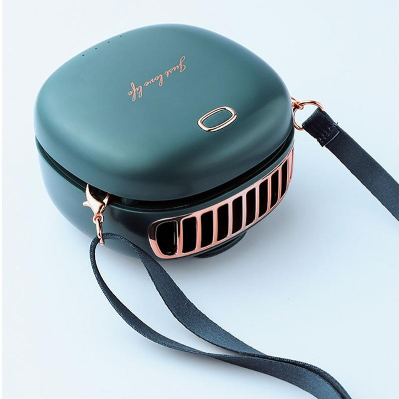 Electric Fans Portable Hanging Neck Waist Fan USB Rechargeable 3 Speed Adjustable Air Cooler Handheld For Travel Home Office Use