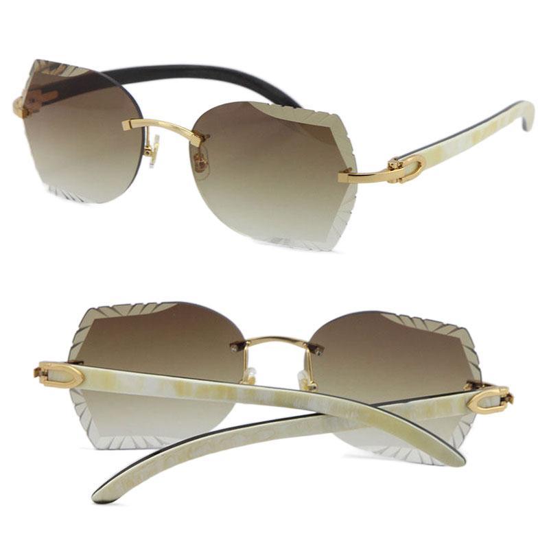 붉은 다이아몬드 컷 렌즈 렌즈 내부 블랙 버팔로 경적 선글라스 럭셔리 여성 adumbral 유니섹스 고양이 눈 태양 안경 남성과 여성 UV400 안경 판매