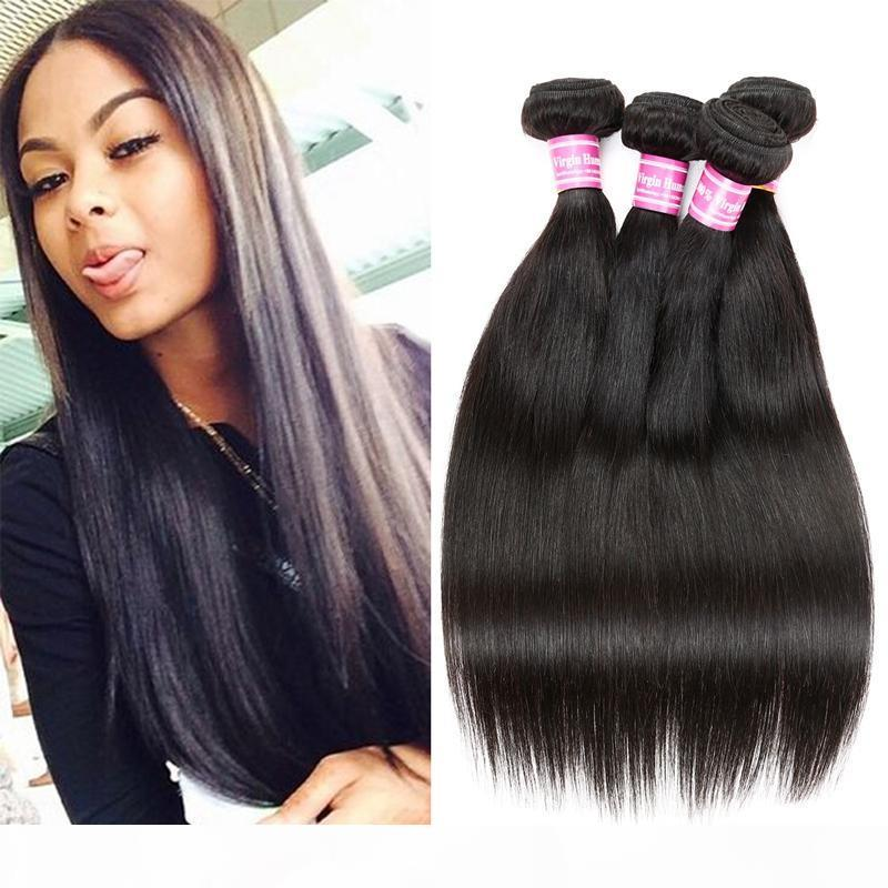 Wholesale Cosy Silky Straight Virgin Human Hair 3 and 4 bundles Sew in Hair Extensions Double Weft Weave Cheap Straight Human Hair Bundles