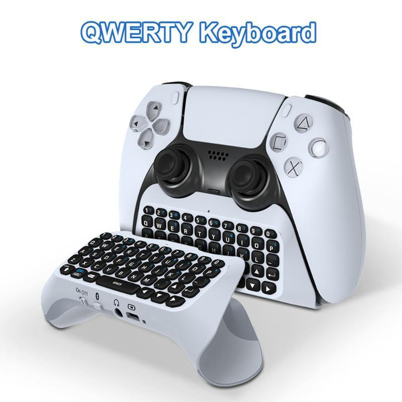 Wireless Game Keyboard Bluetooth Controller Chat Pad For PS5 External Built In Speaker Controllers & Joysticks