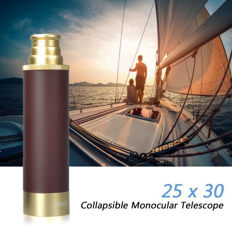 25x30 HD Palmare pieghevole Monoculare Monoculare Zoomable Pocket Pocket Pocket Telescope Alti telescopi di caccia multipli Telescopi