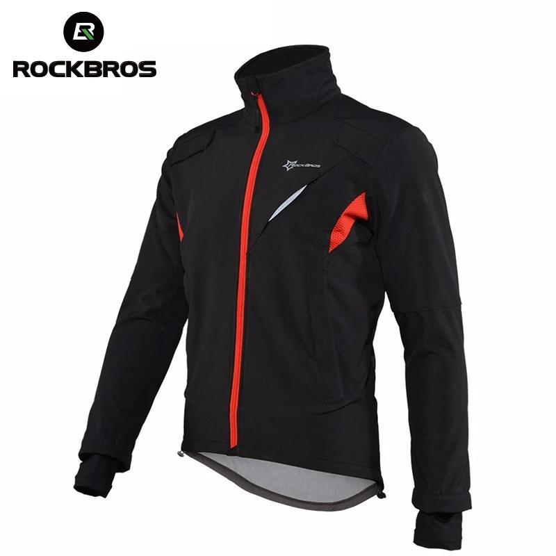 ROCKBROS Cycling Jackets Winter Windproof Water Repellent Reflective Jacket Warm Mountain Bike Lengthen Cuff Men Women Coat