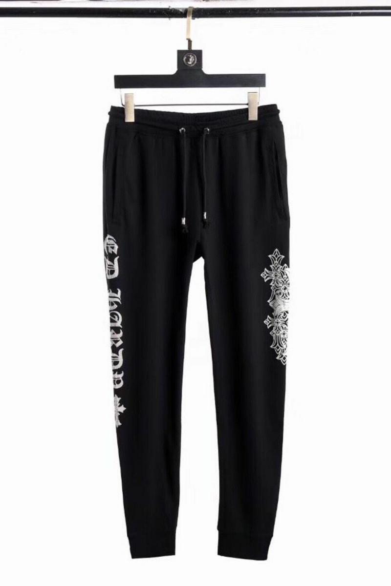 Chome Heart 2021 New Spring Brand Crosin Herryshoe Print Cross Full Diamond Sports Casual Pants Harlem PantsC70F