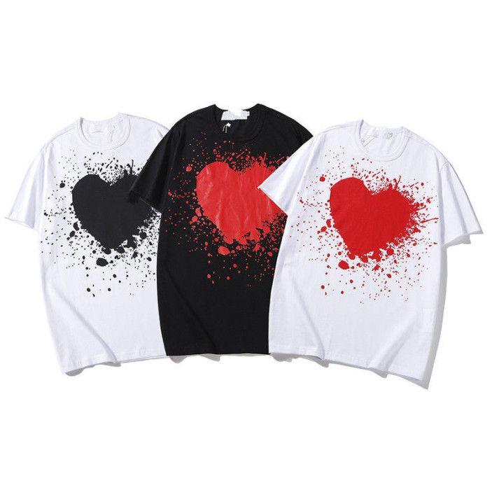 Diseñador de moda Camiseta de alta calidad Camiseta de manga corta para hombre y mujer Haite Street Camisa de verano transpirable