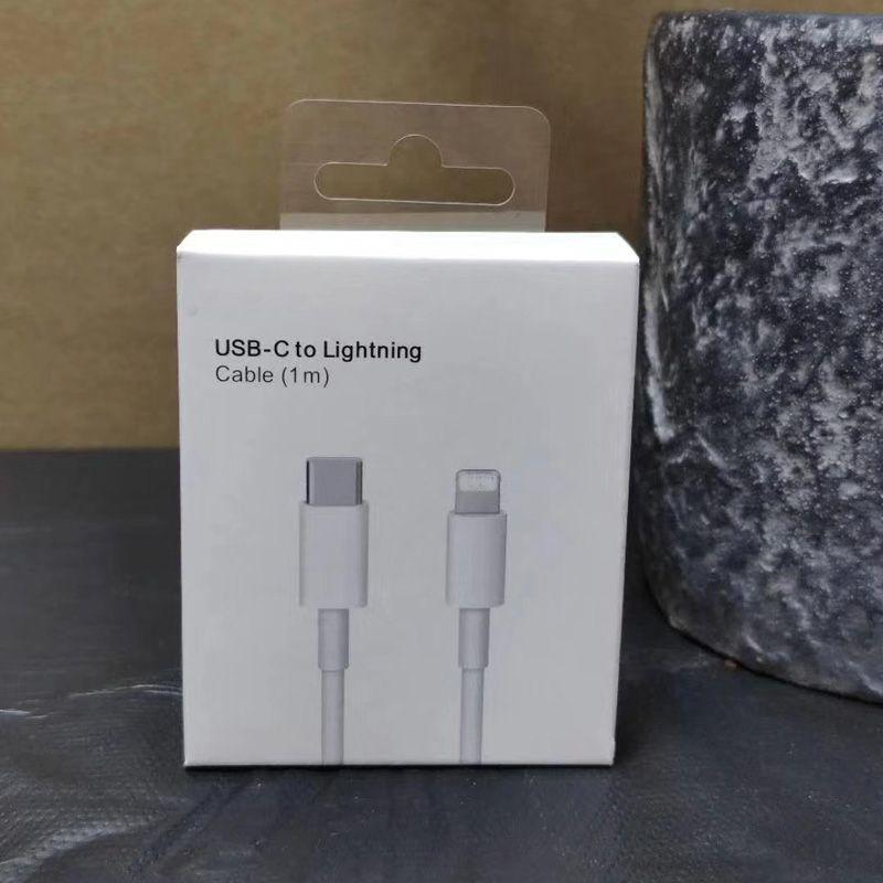 소매 상자 OEM 품질 1m 3FT USB 케이블 유형 C to Lightning 케이블 빠른 충전 코드 아이폰 7 8 x 11 12 Pro Max Samrt Phones 용 빠른 충전기