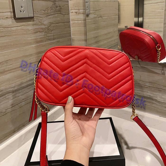 2021 Yüksek Kalite Klasik Kamera Çanta Deri Omuz Çanta Luxurys Tasarımcılar Moda Çanta Yüksek dereceli Çanta Kılıf Crossbody Çanta Zig Zag Mini Flap Cüzdan