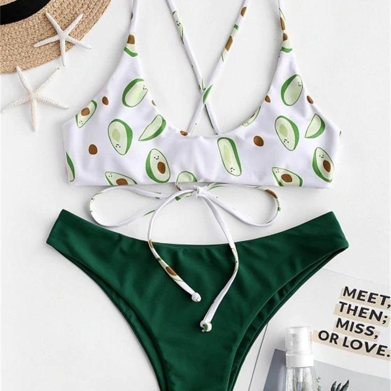 Bikini2021 Avocado Green Bikini Swimsuit femminile