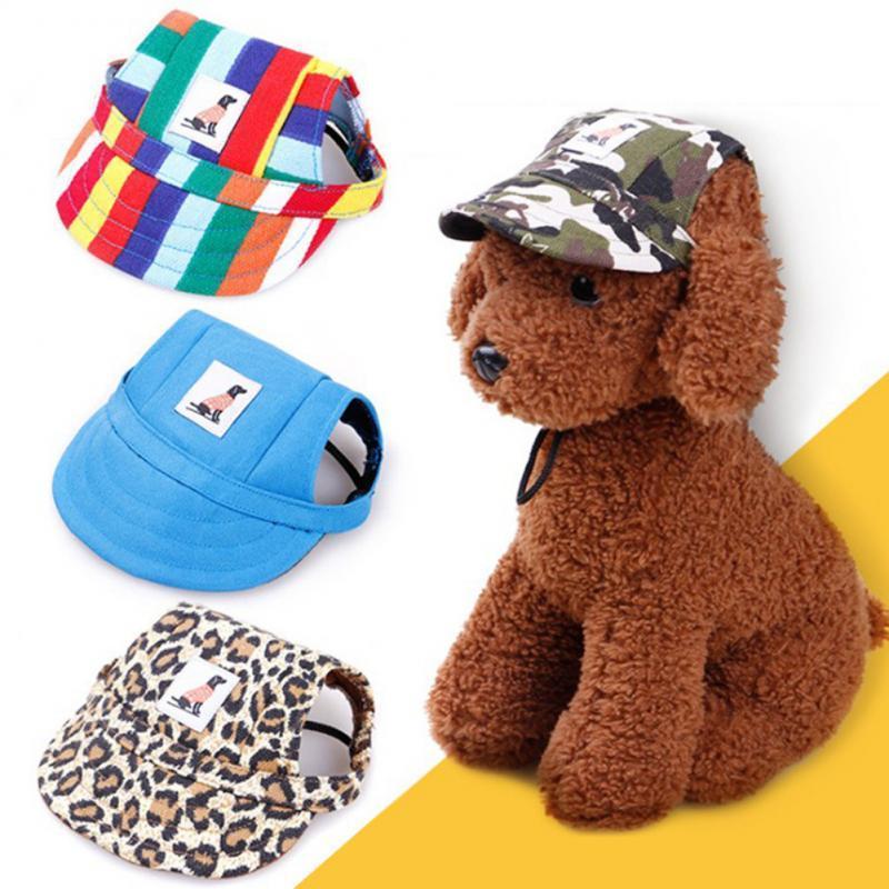 Pet Dog Caps Small Puppy Pets Summer Print Cap Baseball Visor Hat Outdoor Accessories Sun Bonnet Chihuahua Apparel