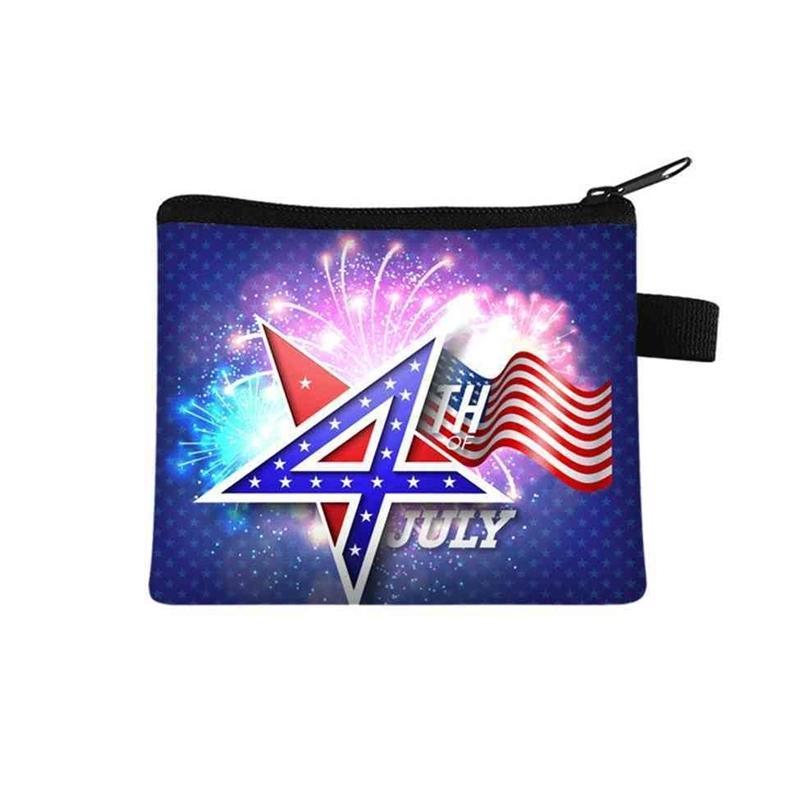 2021 день независимости Детский ноль кошелек студент портативный карточный мешок монеты ключ хранения сумка из полиэстера ручная сумка 24 цвета g4emlp9