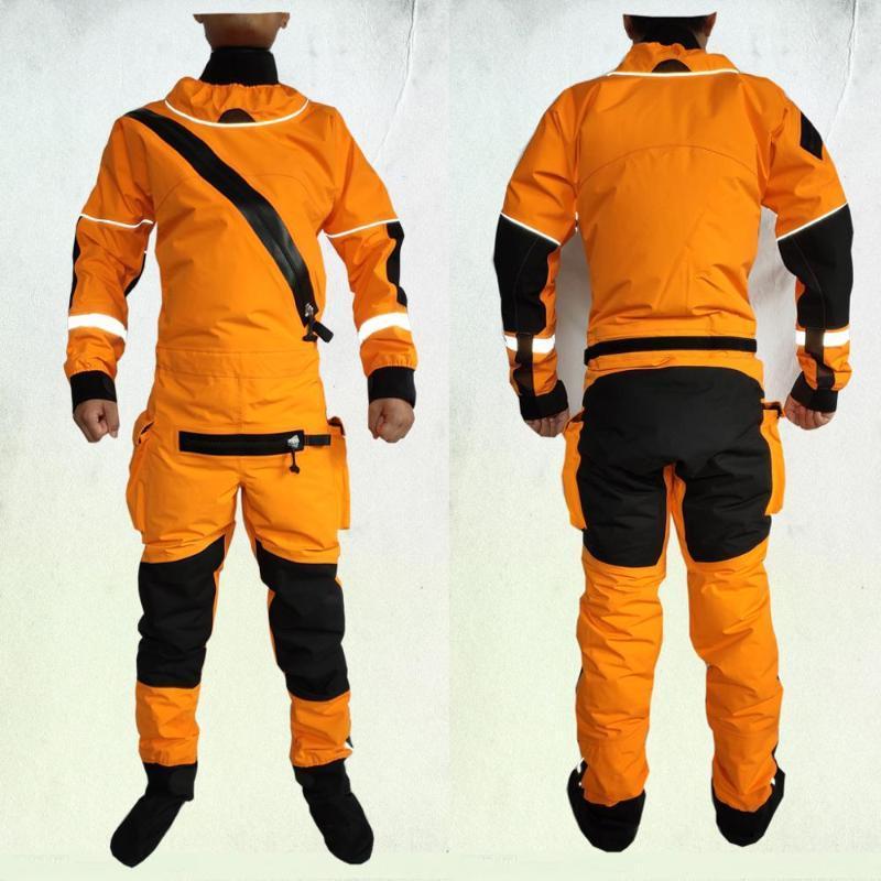 Caiaque drysuit terno seco resgate imersão roupas impermeáveis para depósito, rafting, vela, pesca, remar, atvutv cavaleiros de esqui ternos