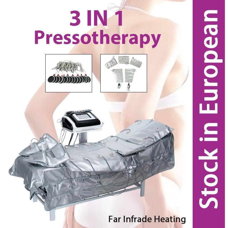 3 في 1 العلاج بالضغط البعيد الأشعة تحت الحمراء وسادة الجمال أداة الجمال pretoterapia الأشعة تحت الحمراء الجسم تشكيل سليم دعوى للبيع