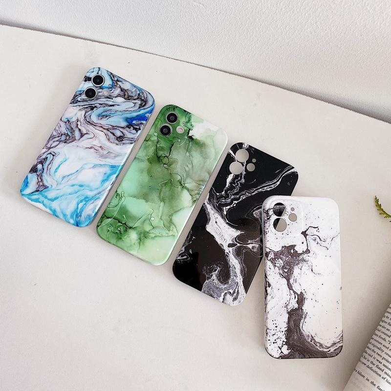 Art ink painting marble TPU phone cases for iPhone 12 11 pro promax X XS Max 7 8 Plus