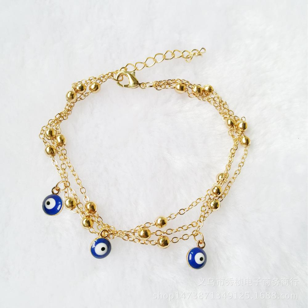 Nouveau Style Bohemian Summer Turquie Blue Eye Pendentif Foot Perle Bead Bijoux