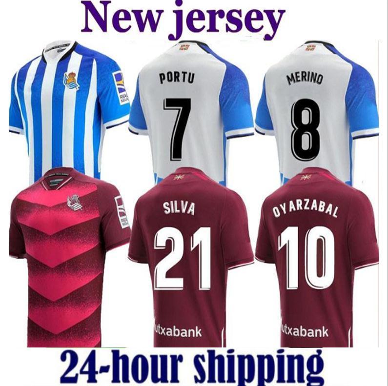 21/22 Gerçek Sociedad Futbol Forması 2021 Ev Merinos Portu Oyarzaba Maillots De Ayak Gömlek Uzakta X.Prieto Silva Willian J Januzaj Isak Futbol Üniforması