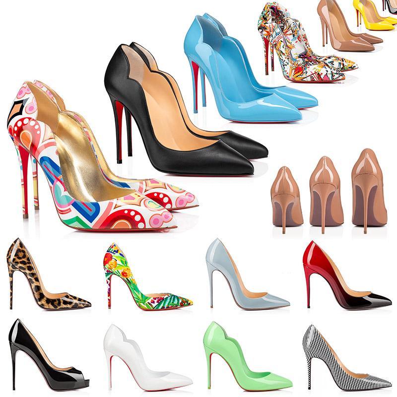 2021 Talons Bas Rouges Chaussures Mode Femmes Robe En Cuir Véritable Peep-toes Sandales Plate-Forme À Talons Hauts Designer Bout Pointu Pompes Mocassins En Caoutchouc 35-42