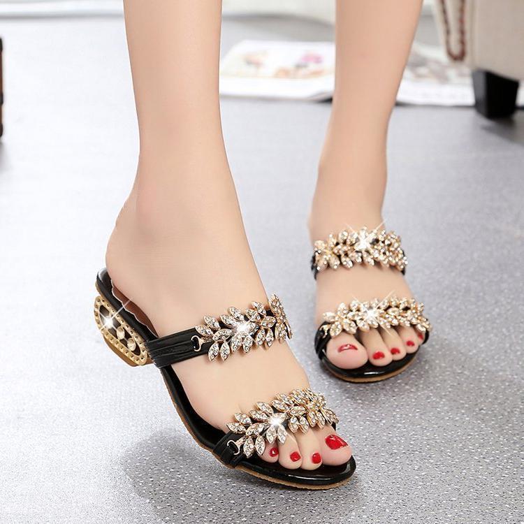 Sandals Sandálias femininas d vrão praia, chinlos para mulhrs, moda fminina xtrna com strass, novo, CT5Q