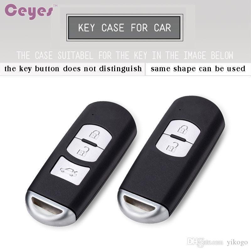 Auto 3 Key CX-9 Cover CX-7 الملحقات Mazda Car for CX-5 CX-3 MX-5 SHELL مفتاح قذيفة غطاء بعيد 6 TPU Styling Utaor