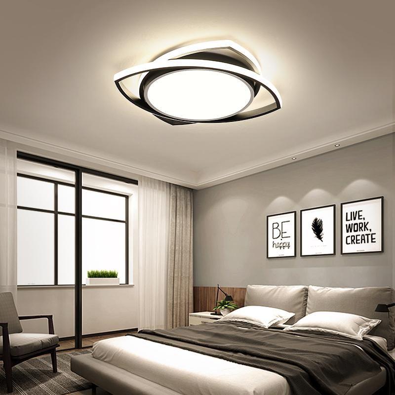 현대 LED 천장 조명 단순성 삼각형 디자인 침실 거실 통로 통로 로프트 아크릴 실내 장식 빛 조명