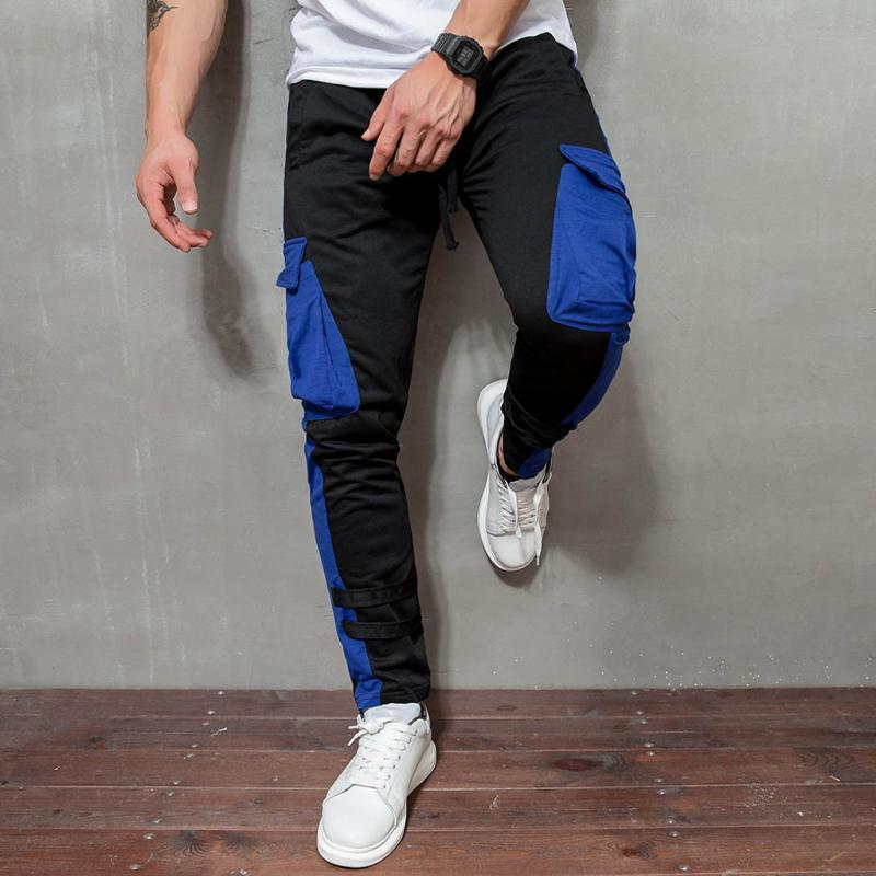 Мужские брюки Vogue хорошие свободные длинные пастдики мужчин мужские спортивные штаны мешковатые брюки мода установленные нижние днище уличные носить хип-хоп карманный прилив