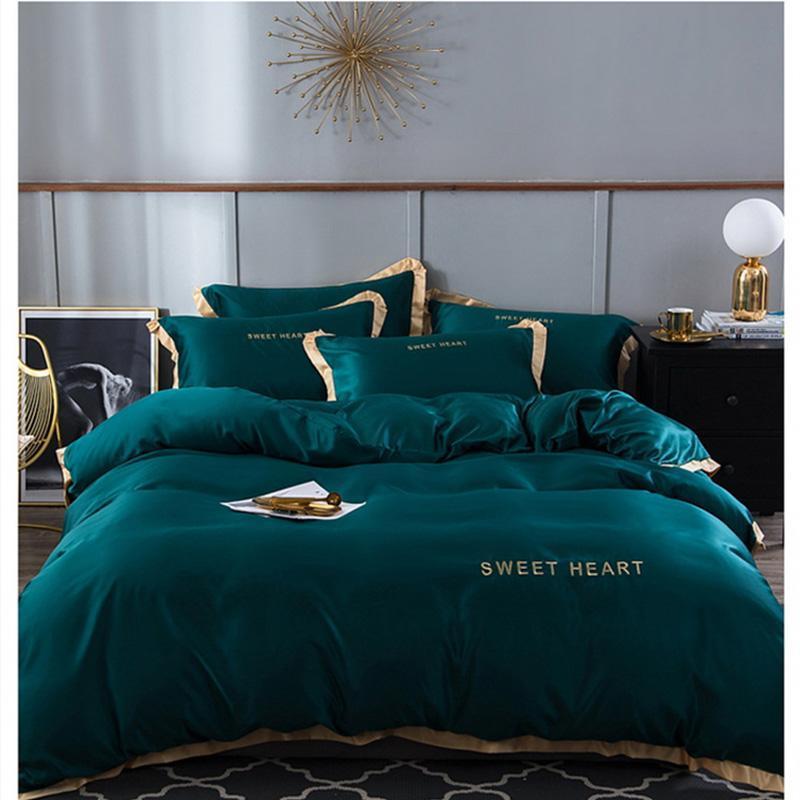 Bedding Sets Home Textile Adult Set Bed White Blue Green Pink Duvet Cover Quilt Brief Bedclothes Comforter