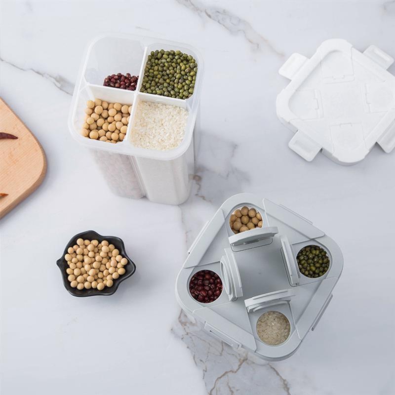 Storage Bottles & Jars Kitchen Layers Organizer Box Grain Bins Cereal Dispenser For Dry Cereals Bottle