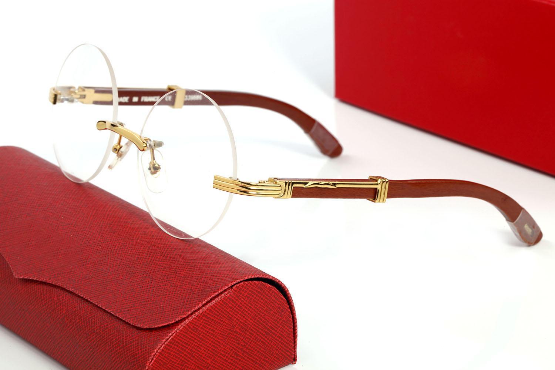 Moda Buffalo Boynuz Gözlük Bayan Spor Erkek Güneş Gözlüğü Gözlük Ahşap Gözlük Kutuları Ile Ahşap Gözlük Çerçevesiz Metal Altın Çerçeve Lunettes