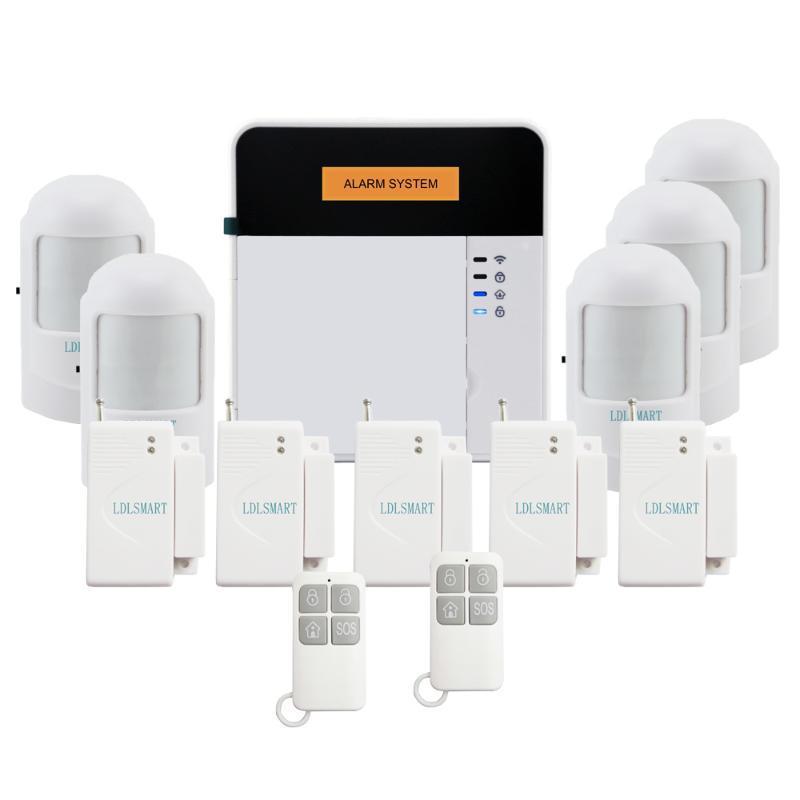 Sistemas de alarme App SMS sem fio Fogo Sensor Detector Detector Home Sistema GSM