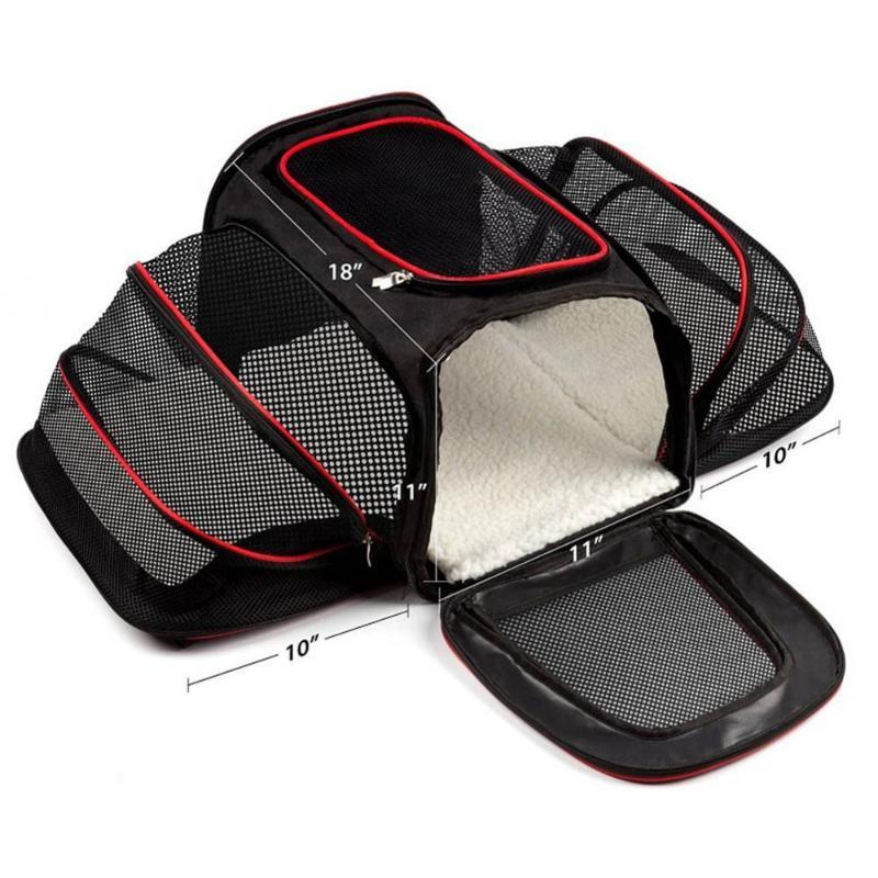 Dog Apparel Extensible Pet Carrier Approved Car Seat For Small Dogs Cats Soft Side Box Portable Kennel Travel Bag