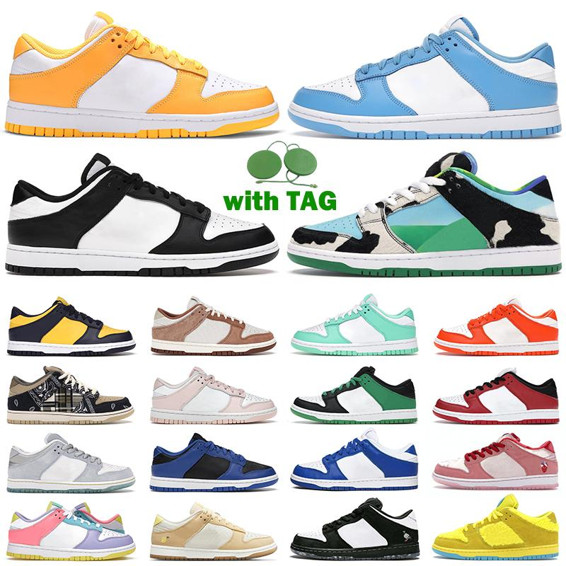 الرجال النساء حذاء كاجوال أحذية رياضية دونك أسود أبيض UNC ليزر برتقالي سيراكيوز فارسيتي أخضر مكتنزة Dunky Hyper Cobalt Dunks أحذية رياضية للرجال الركض والمشي