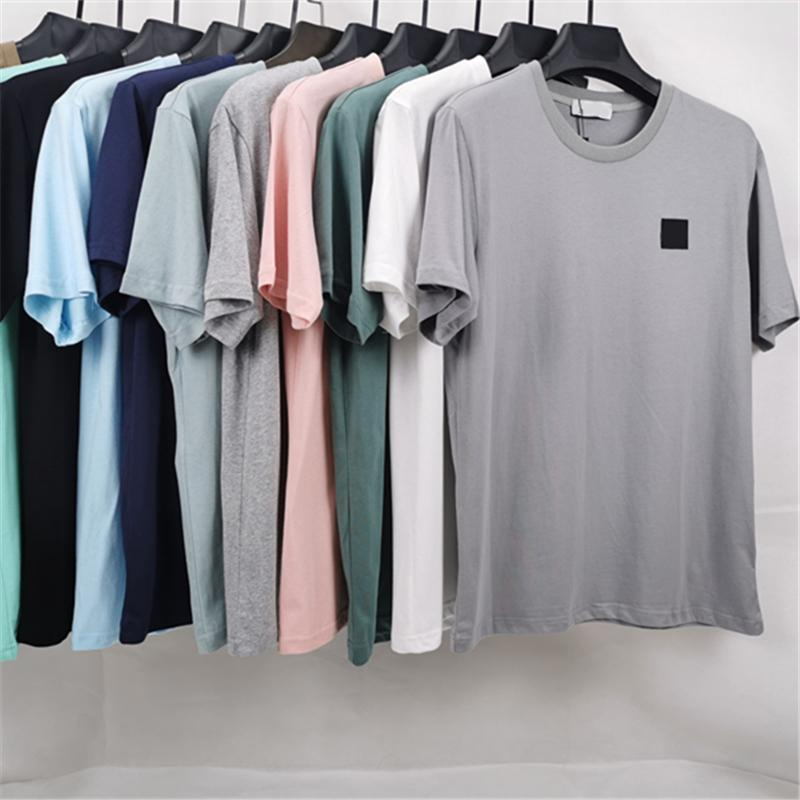 CP CHINACPCCOMPANY 여름 간단한 로고 애호가 티셔츠 캐주얼과 편안한 면화 남성 반팔 패션 라운드 넥 청소년 탑