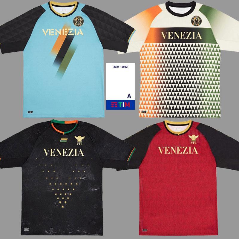 21 22 Venezia FC Jerseys Home Preto Aramu Forte Peretz Heymans Tessmann CRNigoi 2021 2022 Jersey Camisa de Futebol Di Mariano Ceccaroni Johnsen Mazzocchi Kit