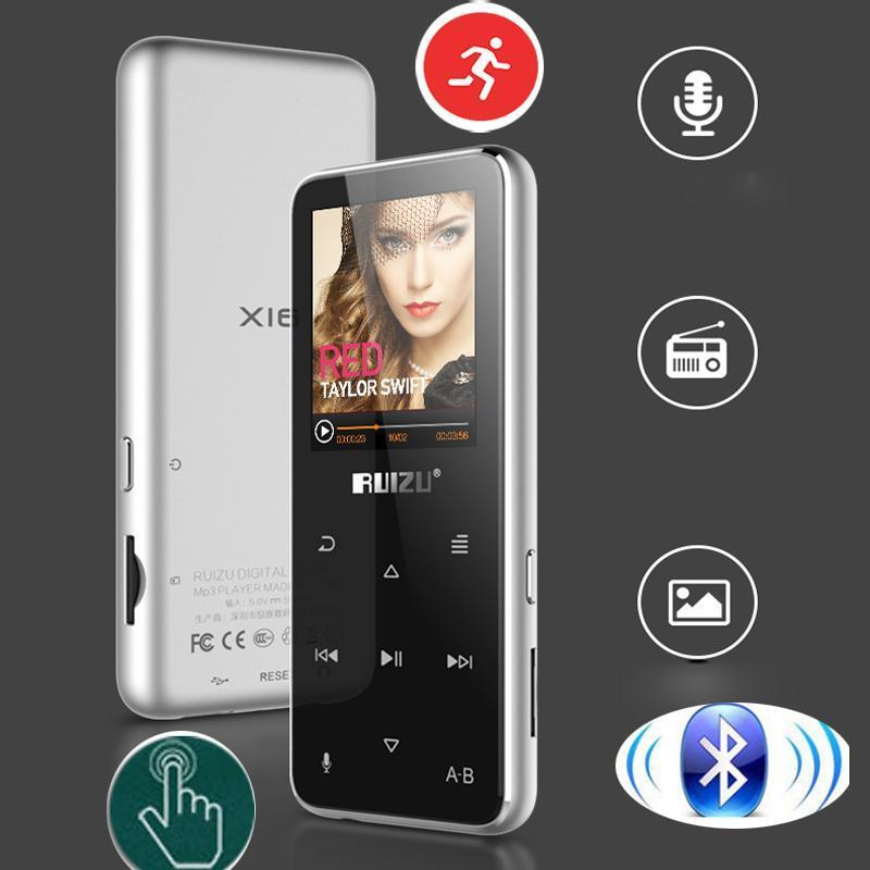 Lettore MP4 originale versione inglese Italiano Lettore MP3 Ultrathin MP3 con storage da 8 GB e tocco da 1.9 pollici TOUCH CREEN CAN PORDO METER, RUZU X16 PKX02