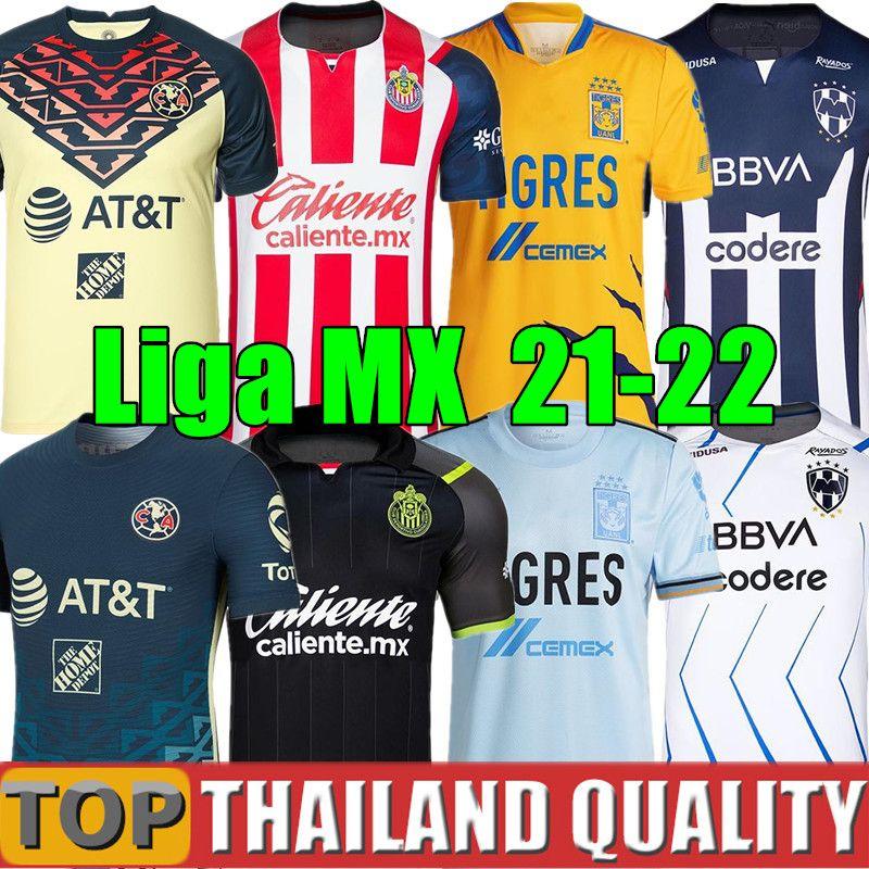 21 22 Club Amerika Futbol Formaları UANL Tigres Liga MX 2021 Chivas Guadalajara 115th 115 Yıl Futbol Gömlek Unam Camiseta de Futbol 2022 Cruz Azul Camisa