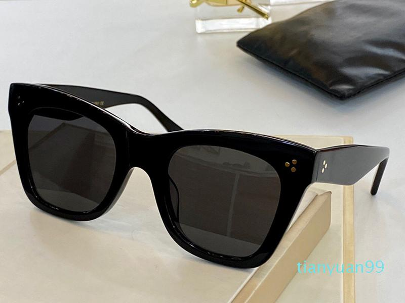 Novos óculos de sol de moda avançada para quadro quadrado das mulheres Nova óculos de sol simples Estilo selvagem UV400 Proteção Lente Eyewear