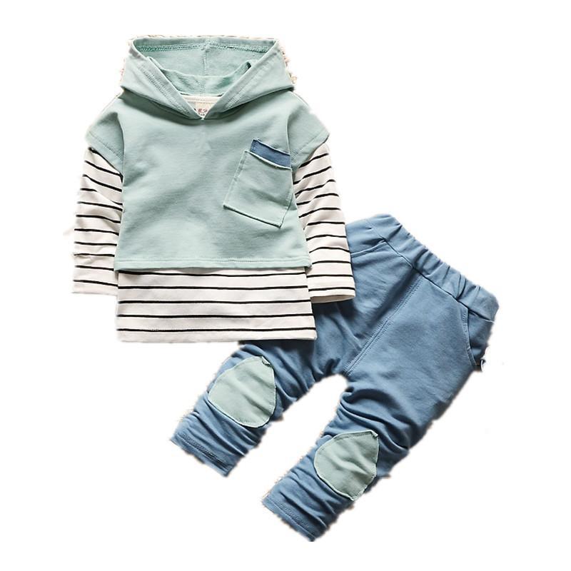 الفتيان الملابس ثلاث قطع مجموعات موضة جديدة التصحيح شريطية الخريف الصبي هوديس سترة القمصان الجينز ملابس الأطفال ملابس الاطفال 797 x2