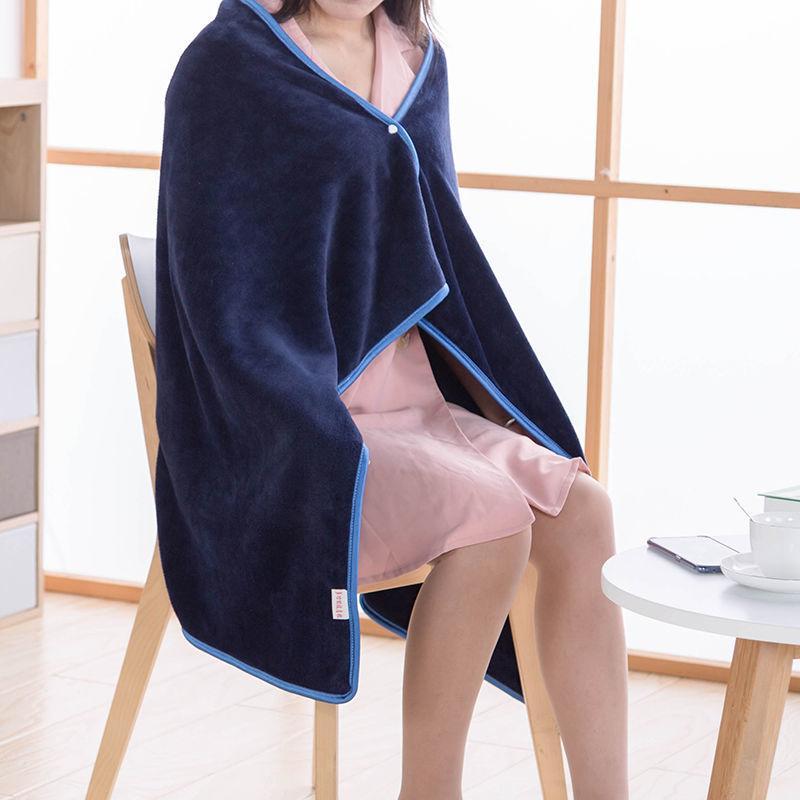 Couvertures de télévision chaudes hivernales adultes peignoir canapé confortable couverture Sweat-shirt en peluche en peluche massif Couvertures en polaire corail d'extérieur châle F0288 210420