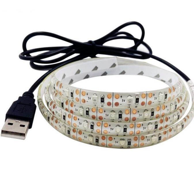 Kabel-LED-Band-Licht-Lampe SMD3528 50 cm 1m 2m Weihnachten flexible Streifen Lichter TV-Hintergrund Beleuchtungsstreifen