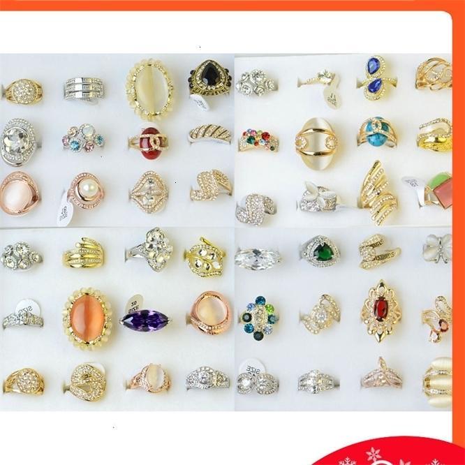 Vento exagero liga diamante personalidade anel yiwu moda jóias