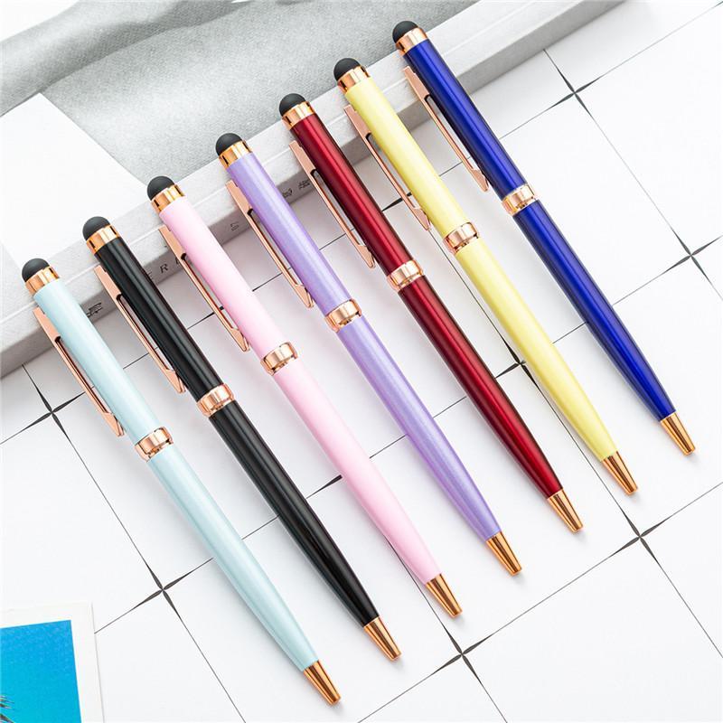 14x1.0cm Aluminiumstange Touchscreen Kopf Handy Touch Stift Metall Kugelschreiber Dual-Use Dual-Use Touch Geschenk Metall Kapazitiver Stift Großhandel