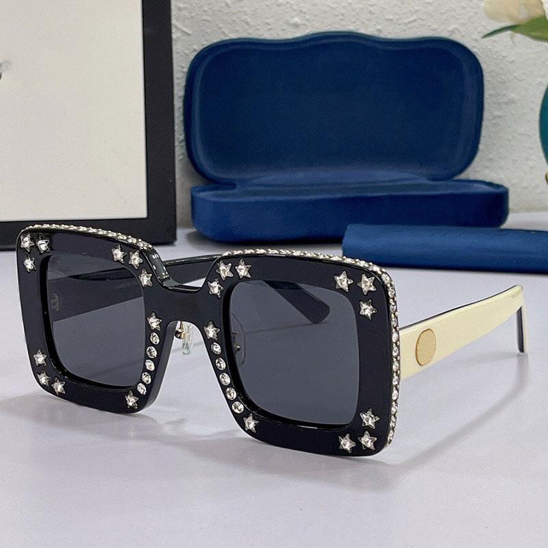 Bayan Güneş Gözlüğü 0780S Moda Klasik Alışveriş Büyük Kutu Elmas Çivili Zarif Kişilik Kadın Gözlük Çok Güzel UV400 Tasarımcı En Kaliteli 0780